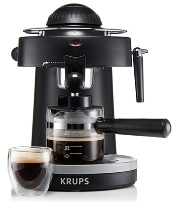 KRUPS XP1000 Steam Espresso Machine with Frothing Nozzle for Cappuccino